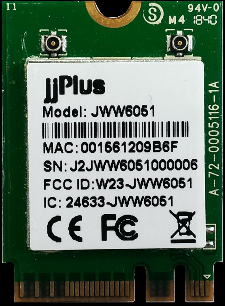 JWW6051   802.11ac/a/b/g/n MU-MIMO_2×2@2.4/5GHz_QCA6174A-5_PCIe 2.0-WiFi&USB-BT_M.2 2230_2x U.FL connector