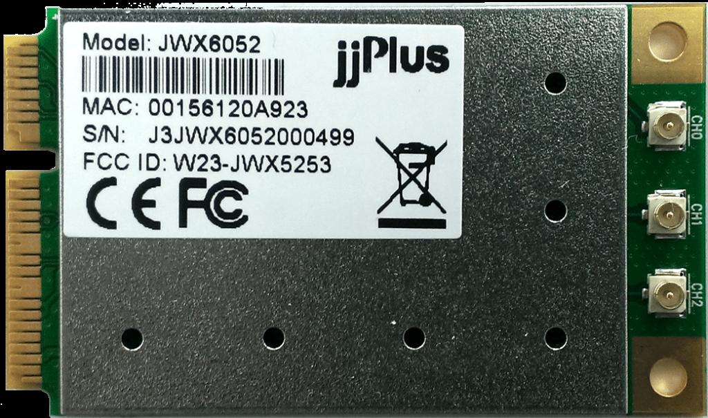 JWX6052 | 802.11ac/a/b/g/n_3×3@2.4/5GHz_QCA9880_PCIe 1.2_Mini PCIe_3 x U.FL Connector