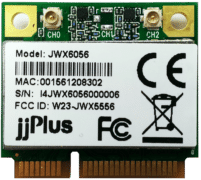 JWX6056   802.11ac/a/b/g/n_2×2@2.4/5GHz_QCA9882_PCIe 1.2_Mini PCIe_2 x U.FL Connector