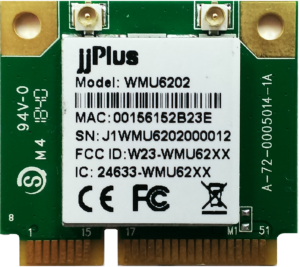 WMU6202 | 802.11ac/a/b/g/n MU-MIMO_2×2@2.4/5GHz_RTL8822BU_USB 2.0(WiFi + BT)_Mini PCIe_2x U.FL connector