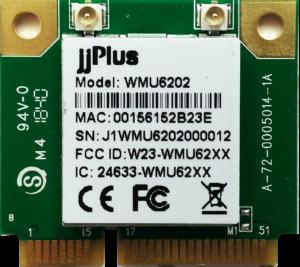WMU6202   802.11ac/a/b/g/n MU-MIMO_2×2@2.4/5GHz_RTL8822BU_USB 2.0(WiFi + BT)_Mini PCIe_2x U.FL connector