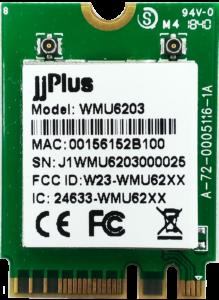 WMU6203 | 802.11ac/a/b/g/n MU-MIMO_2×2@2.4/5GHz_RTL8822BU_USB 2.0(WiFi + BT)_M.2 2230_2 x MHF4