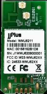 WMU6211   802.11ac/a/b/g/n MU-MIMO_2×2@2.4/5GHz_RTL8822BU_USB 2.0(WiFi + BT)_Half Holes_2 x PCB Antenna