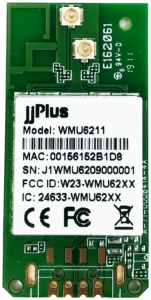 WMU6211 | 802.11ac/a/b/g/n MU-MIMO_2×2@2.4/5GHz_RTL8822BU_USB 2.0(WiFi + BT)_Half Holes_2 x PCB Antenna